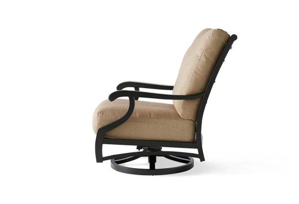 Turin Cushion Spring Swivel Lounge Chair