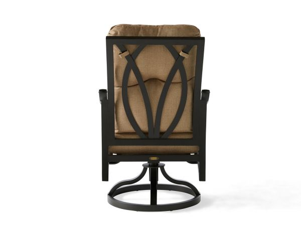 Volare Cushion Swivel Rocking Dining Armchair