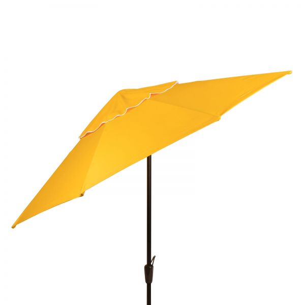 Auto Tilt Market Umbrella with Hammered Bronze Pole