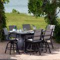 Dakoda Sling Swivel Rocking Dining Armchair