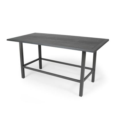 "Salinas 43"" Square Bar Height Umbrella Table"