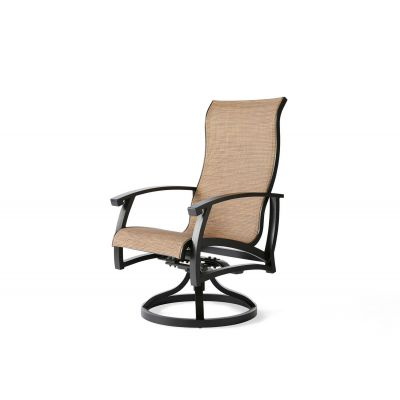Georgetown Sling Swivel Rocking Dining Armchair