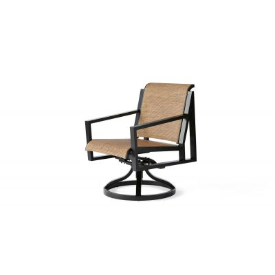 Madeira Sling Swivel Rocking Dining Armchair