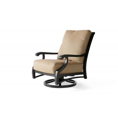 Turin Cushion Spring Swivel Lounge Chair