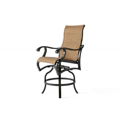 Volare Padded Sling Swivel Counter Stool