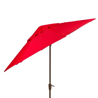 Auto Tilt Market Umbrella with Champagne Pole