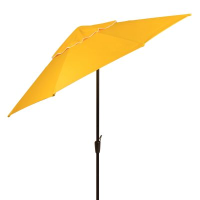 Auto Tilt Market Umbrella with Hammered Bronze Pole - Bar Height