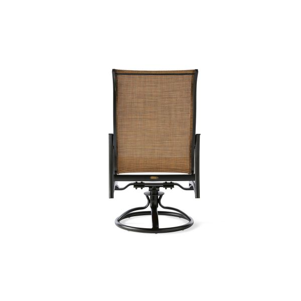 Seville Sling Swivel Rocking Dining Armchair
