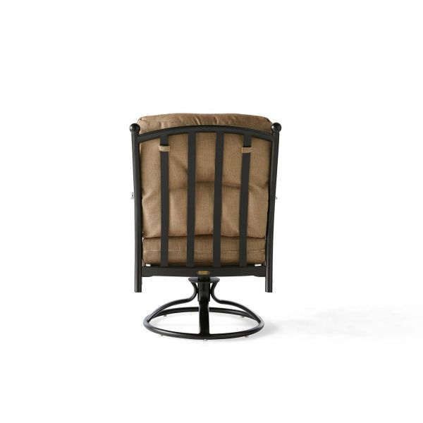 Seville Cushion Swivel Rocking Dining Armchair