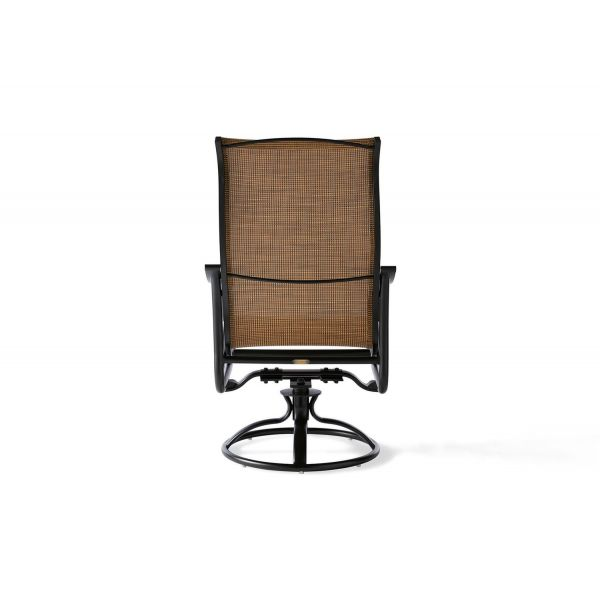 Scarsdale Sling Swivel Rocking Dining Armchair