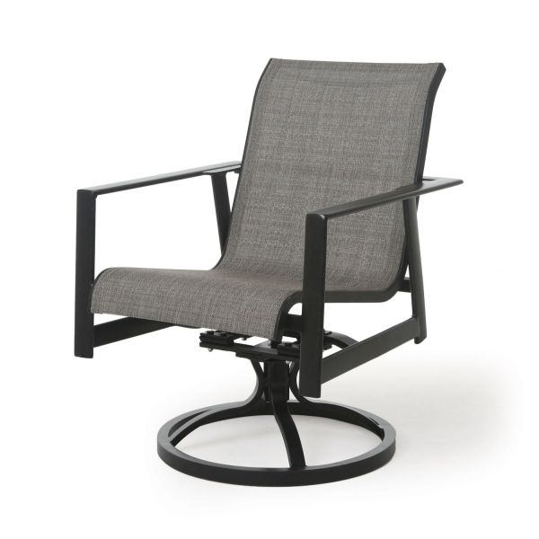 Tayler Sling Swivel Rocking Dining Armchair