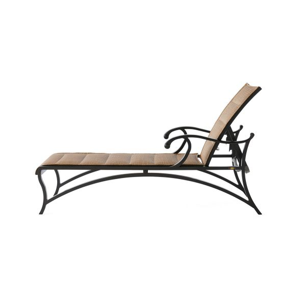 Volare Padded Sling Adjustable Chaise Lounge