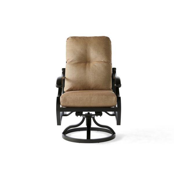 Volare Cushion Swivel Rocking Dining Armchair