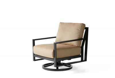 Madeira Cushion Spring Swivel Lounge Chair