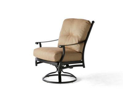 Seville Cushion Swivel Rocking Dining Armchair