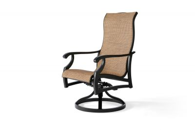 Turin Sling Swivel Rocking Dining Armchair