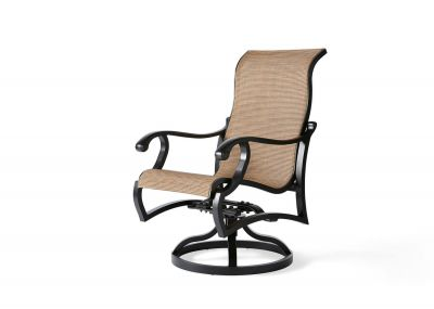 Volare Sling Swivel Rocking Dining Armchair